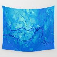 aquarius Wall Tapestries featuring Aquarius  by HollyJonesEcu