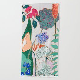 Speckled Garden Beach Towel
