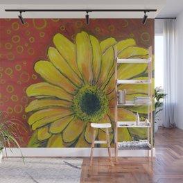 Gerber Daisy Bubbles Wall Mural