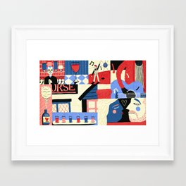 Drinking Framed Art Print