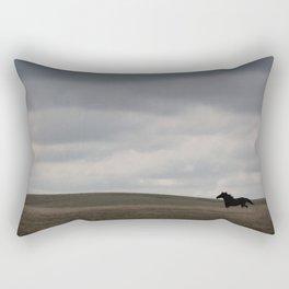 Horse running open prairie Rectangular Pillow