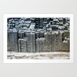 Kowloon City Wall Art Print