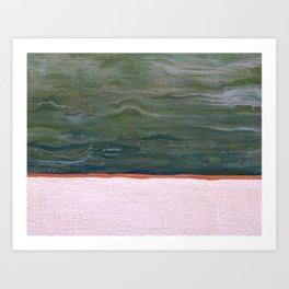Northern Lights (green) Original Encaustic Painting Art Print