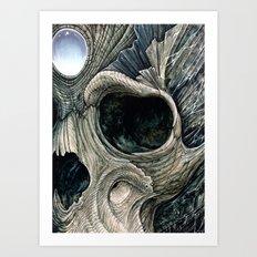 Fractal skull Art Print