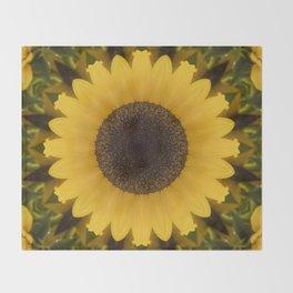 Beautiful Sunflower Throw Blanket
