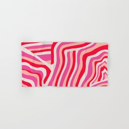 pink zebra stripes Hand & Bath Towel