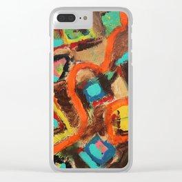 Orange River Clear iPhone Case