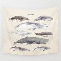 whales Wall Tapestries featuring Whales by BySamantha | Samantha Ranlet