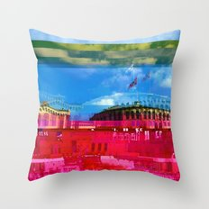 Beautifully Glitched Oslo, Norway Throw Pillow
