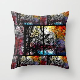 Alley Colors Throw Pillow