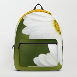 Beautiful Daisy Natural Green Background #decor #society6 #buyart Backpack