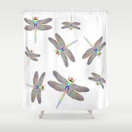 Rainbow Dragonfly II Shower Curtain
