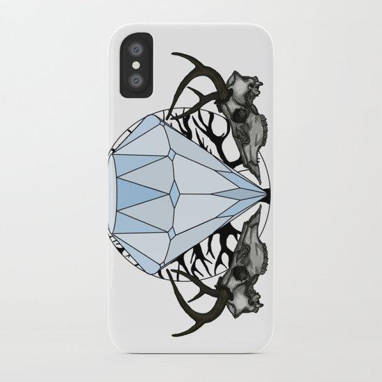 Diamond and skulls iPhone Case