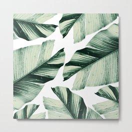 Tropical Banana Leaves Vibes #1 #foliage #decor #art #society6 Metal Print