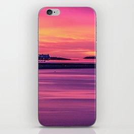 Amazing pre-sunrise colors in Boston Harbor iPhone Skin