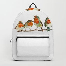 A row of singing Robins Backpack