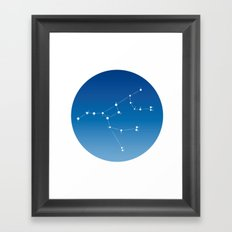 Ursa major constellation Framed Art Print