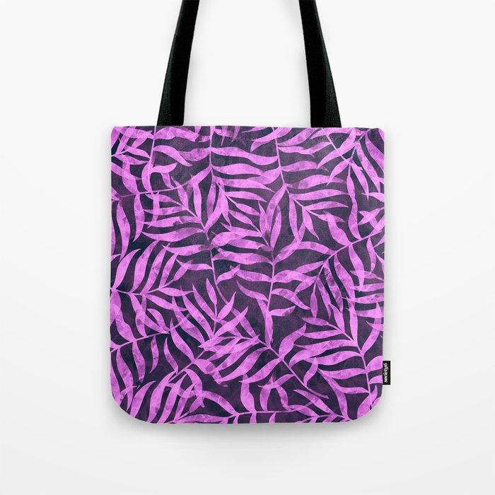 Watercolor Tropical Palm Leaves VIII Tote Bag