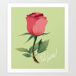 For Love Art Print