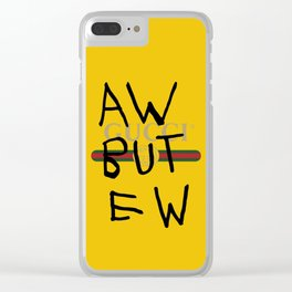 GUCCI/AW BUT EW Clear iPhone Case