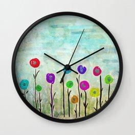 Wicked little flowers. Wall Clock