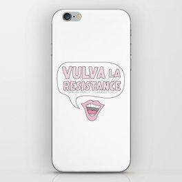 Vulva La Resistance iPhone Skin