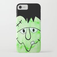 frankenstein iPhone & iPod Cases featuring Frankenstein by HollyJonesEcu