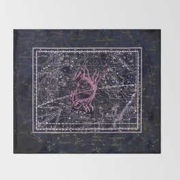 Cancer | Constellation map | Zodiac | Sign sky | Stars | Universe Throw Blanket