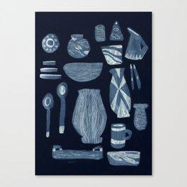 Dinnerware for Evening, 1958 Canvas Print