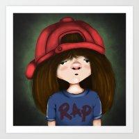 rap Art Prints featuring rap by Pınar Bibin