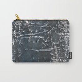 Dark gray marble watercolor design Carry-All Pouch