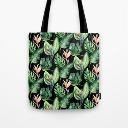 Tropical Print Pattern Tote Bag
