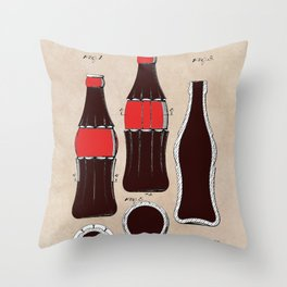 patent Bottle Throw Pillow