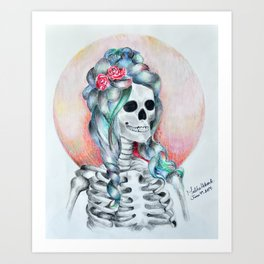 Dead but trying.  Art Print