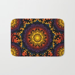 'Bohemian Summer' Multi-Coloured Mandala Bath Mat