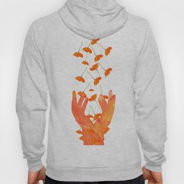 Wonderful Poppy Flowers Orange Coral Color White Background #decor #sociey6 #buyart Hoody