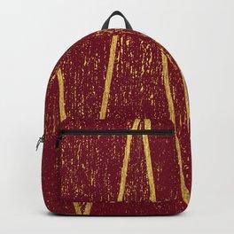 Burgundy Gold Backpack