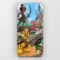 fight iPhone & iPod Skins featuring Fight by Jengslizer