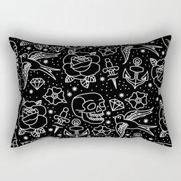 Black flash Rectangular Pillow