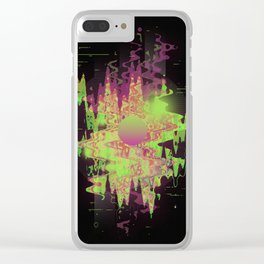 Midnight Mist Clear iPhone Case