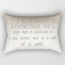 In want of a wife Rectangular Pillow