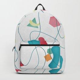 Geometric Miró Pattern Backpack