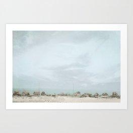 Sleepy Beach Town ~ Pastels Art Print