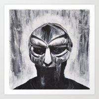mf doom Art Prints featuring MF DOOM by Lindsay Derer
