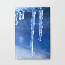 Blue Icicles  Metal Print