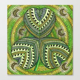 Patterned Shamrock Canvas Print