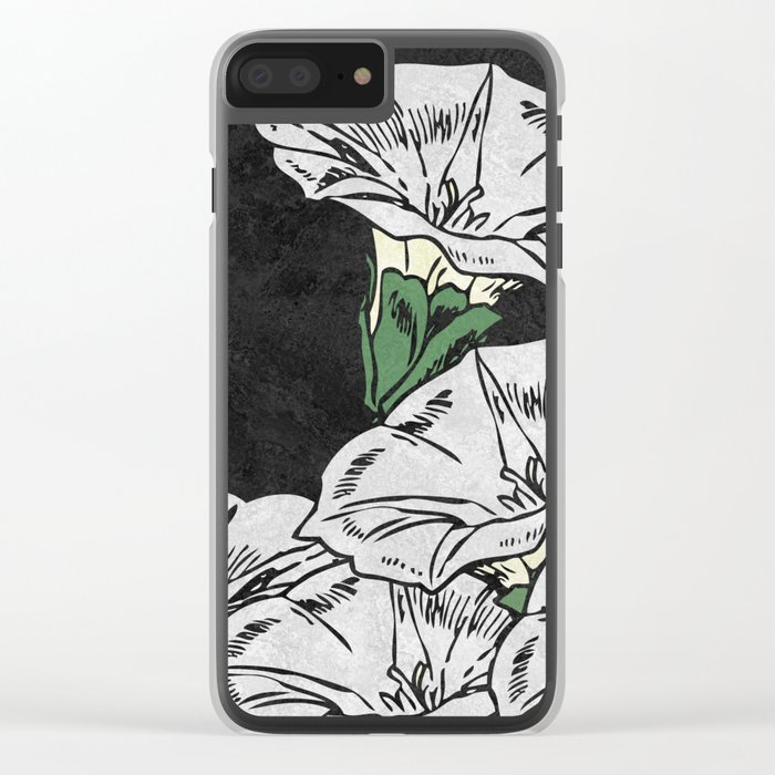 MARBLE FLOWERS (abstract) Clear iPhone Case