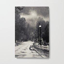 Nostalgic rain Metal Print