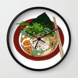 Soy Ramen Noodle Wall Clock
