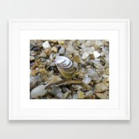 sand Framed Art Prints featuring sand by Dottie